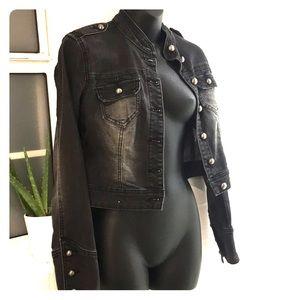 Dollhouse crop jeans jacket